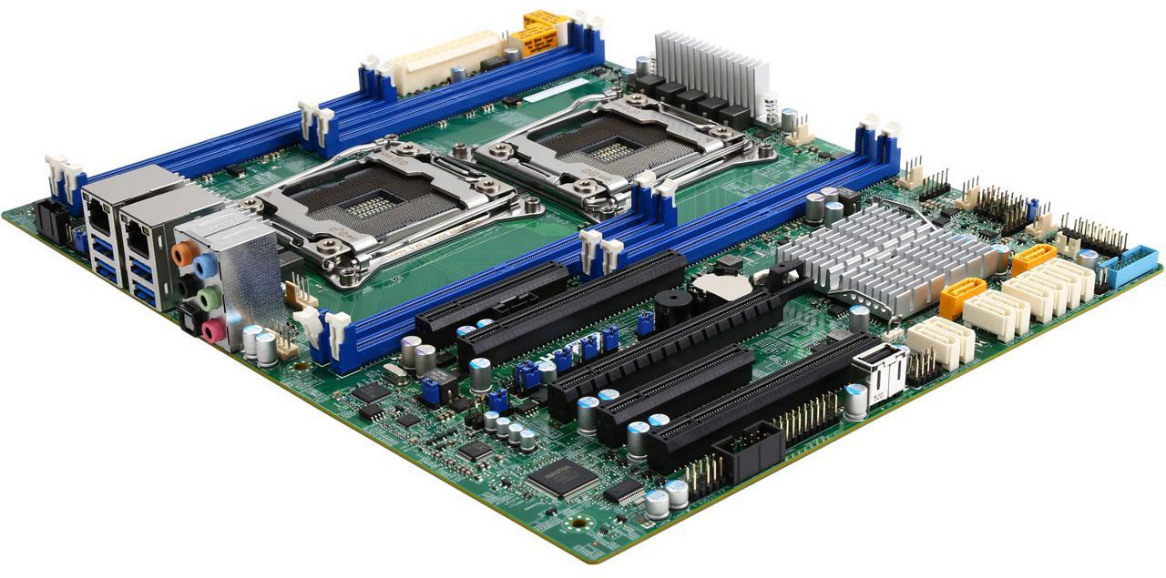 Photo of SuperMicro MBD-X10DAL-I-O motherboard