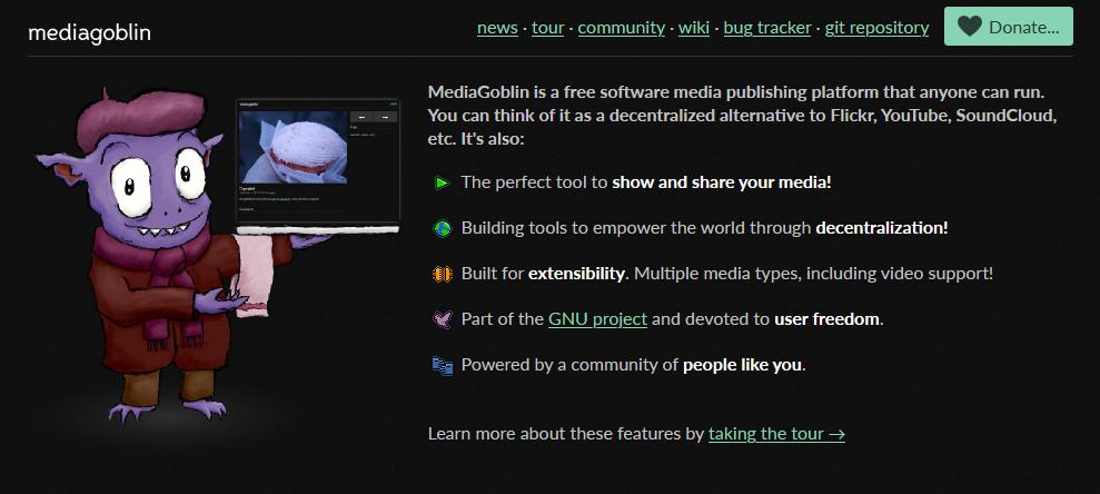 MediaGoblin's homepage