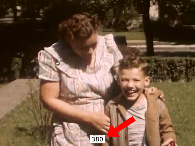 Public domain video with added frame count overlay
