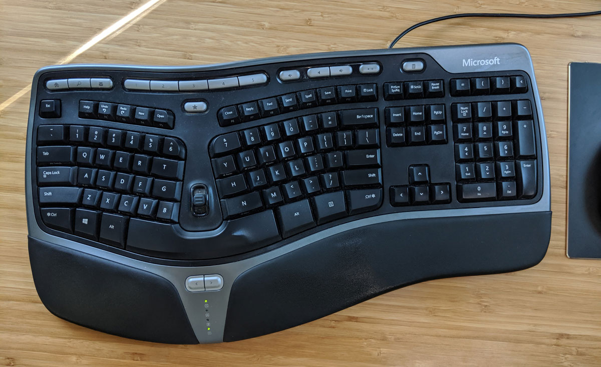 My keyboard on my desk