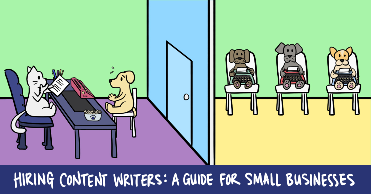 Hiring Content Writers A Guide for Small Businesses (cover image)
