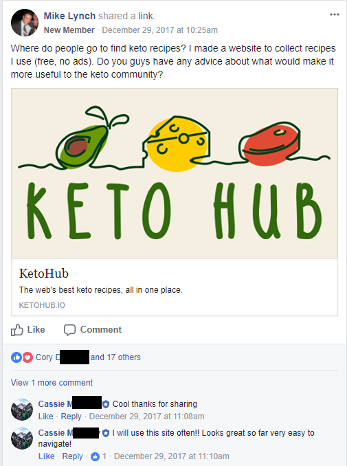 Existing keto sites