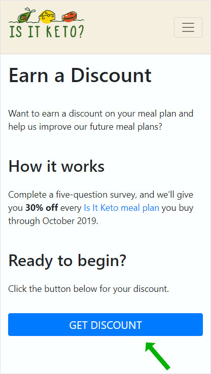 Meal plan discount explanation