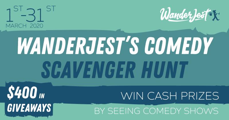 WanderJest Comedy Scavenger Hunt banner