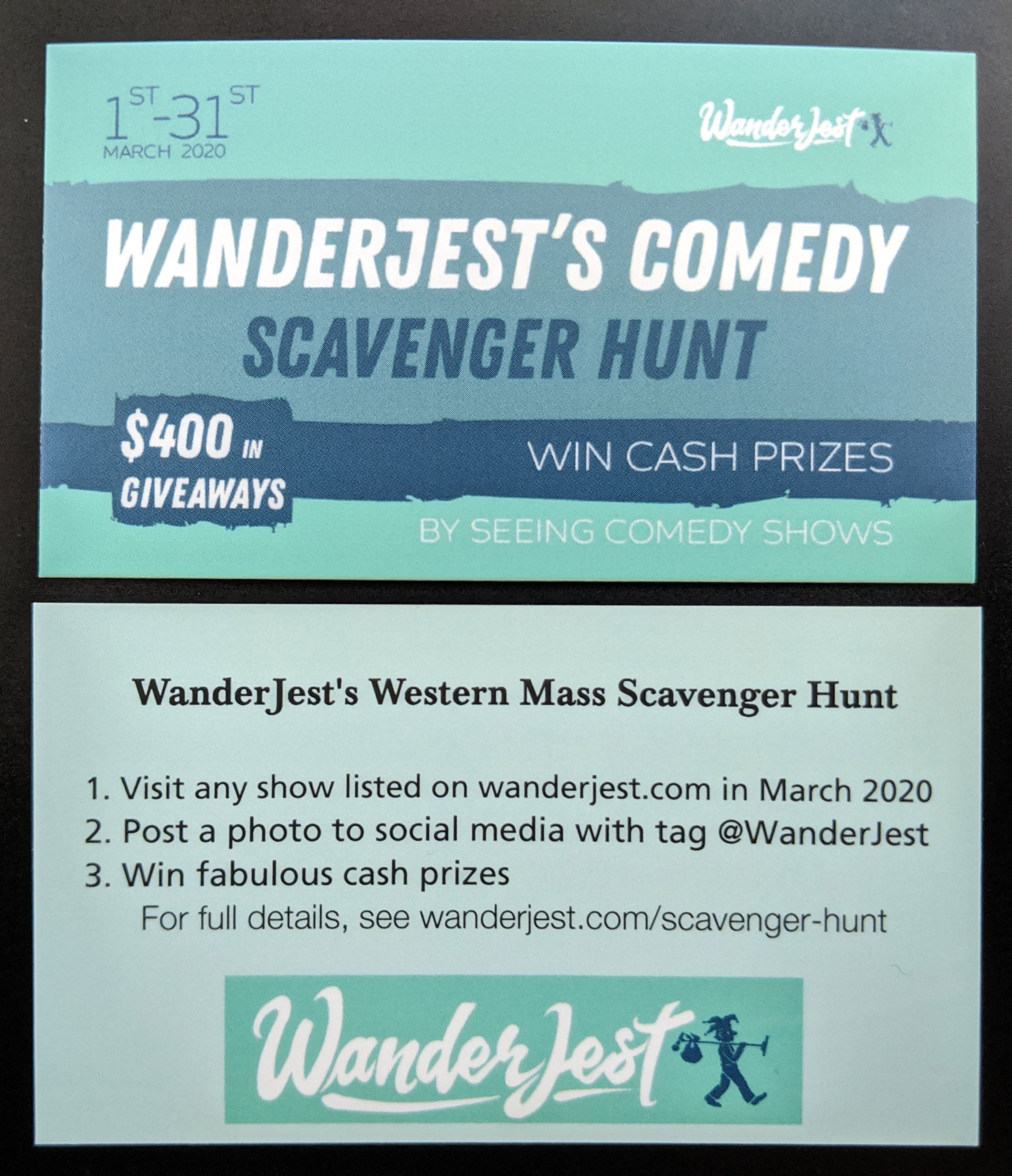 Photo of WanderJest promotional cards