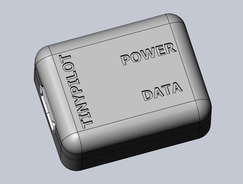 3D rendering of case, top view