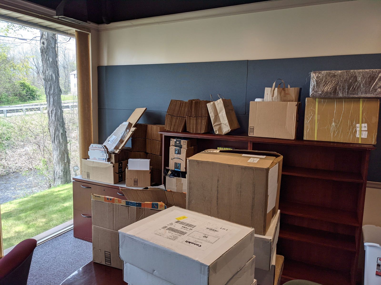 Photo of TinyPilot's office on move-in day