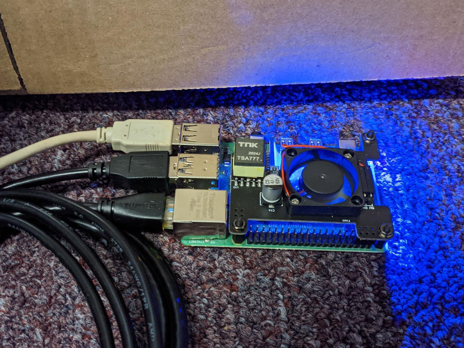 Photo of Raspberry Pi print server