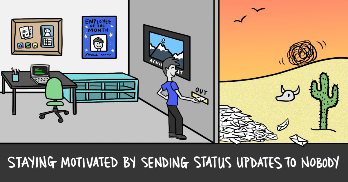 Staying Motivated by Sending Status Updates to Nobody (cover image)